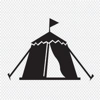 Sinal de símbolo de ícone de tenda