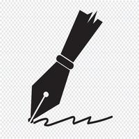 pen icon  symbol sign vector