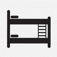 Sinal de símbolo de ícone de cama