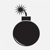 Bomb Icon  symbol sign vector