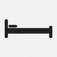Bed pictogram symbool teken