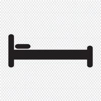 Bed pictogram symbool teken