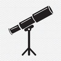 Sinal de símbolo de ícone de telescópio