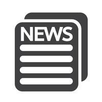 Segno di simbolo dell'icona di notizie