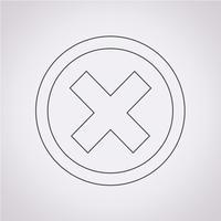 Elimina icona simbolo segno