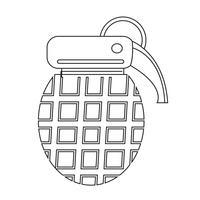 Icono de bomba símbolo de signo