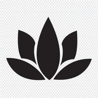 símbolo de ícone de lótus
