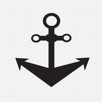 Anchor icon  symbol sign