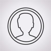 User icon  symbol sign