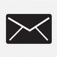 sinal de símbolo de ícone de correio
