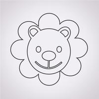 Lion Icon  symbol sign