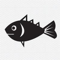 Segno di simbolo dell'icona di pesce