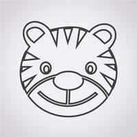 Icono de tigre símbolo de signo