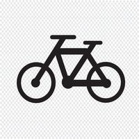 Sinal de símbolo de ícone de bicicleta