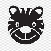 Sinal de símbolo de ícone de tigre