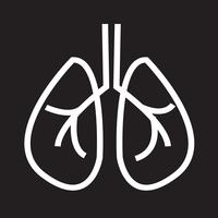 Lungs icon  symbol sign vector