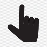 sinal de símbolo de ícone de ponteiro