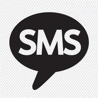Sinal de símbolo de ícone de SMS