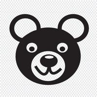 Bear Icon  symbol sign vector