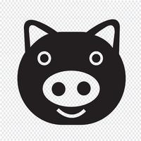 Segno di simbolo dell'icona di maiale