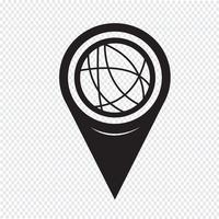 Map Pointer Global Social Network Network-ikonen