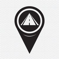 Map Pointer Road Icon