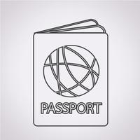 Icono de pasaporte signo símbolo