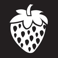 icono de fresa símbolo de signo