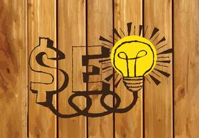 SEO-sökmotoroptimering för SEO-idé på illustration för träbakgrundspappersstruktur