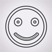 Sorria ícone símbolo sinal vetor