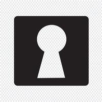 buco della serratura icona simbolo segno