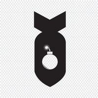 Sinal de símbolo de ícone de bomba