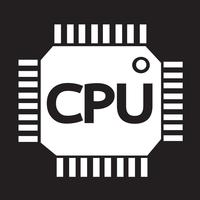 CPU icon  symbol sign
