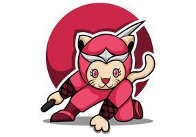 kat ninja mascotte