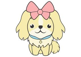 cute feminine dog vector illustration