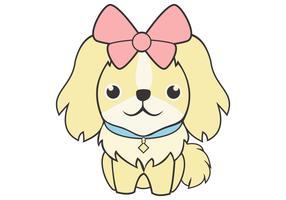 Ilustración de vector lindo perro femenino