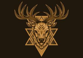 deer badge vector illustration