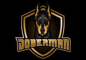 DOBERMAN shield vector illustration