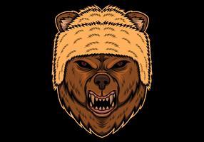 oso enojado cabeza ilustración vectorial