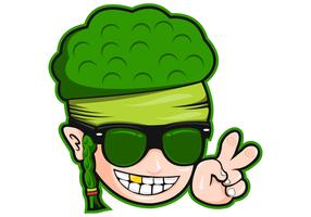 broccoli man head vector illustration