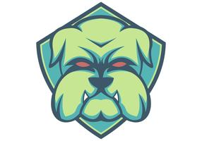 bulldog escudo verde mascota esport