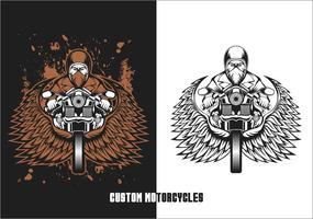 biker custom motorcycles vector illustration