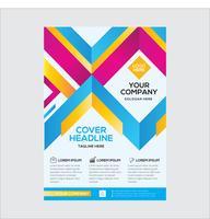 Design de folheto empresarial moderno elegante