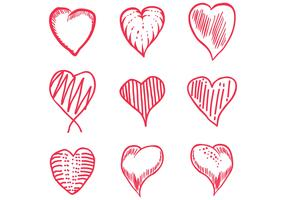 love hand draw set vector
