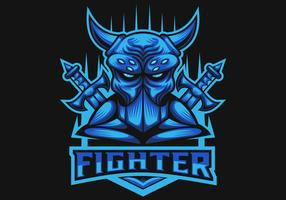 Monster Fighter Club e Sport Logo Vektor-Illustration