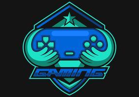 Console Gaming logo e sportvektor