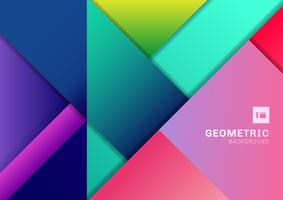 Abstract colorful geometric 3D dimension background.  vector