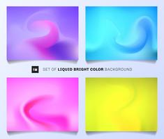 Set of liquid bright color background. Modern abstract covers layout design template. Vivid olors gradient you can use for annual report, poster,  banner web.