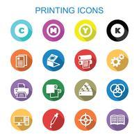 stampa icone ombra lunga