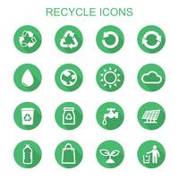 recycle long shadow icons